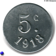 5 Centimes (Vanves) – reverse
