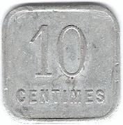 10 Centimes (Dole) -  reverse