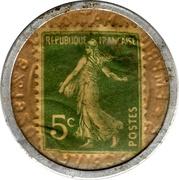 5 Centimes (Crédit lyonnais) – reverse