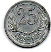 25 Centimes (Herault) -  reverse