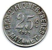 25 Centimes - Mazamet 81 – reverse
