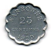 25 Centimes (Narbonne) – reverse