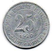 25 Centimes (Saint Gaudens) – reverse