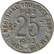 25 Centimes (Toulouse) – reverse