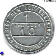 1 Bon Pour 10 - Union des Coopérateurs - Sin-Le-Noble [59] – reverse
