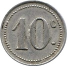 10 Centimes (Vanves) – reverse