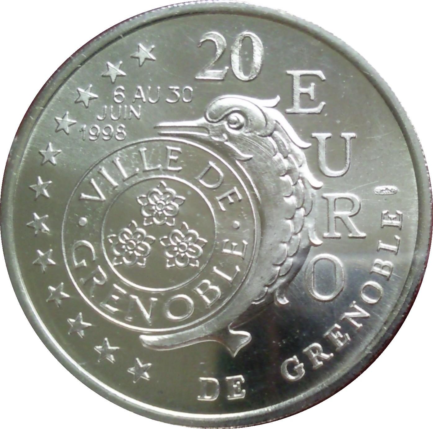 20 Euros De Grenoble 38 France Villes Et R Gions