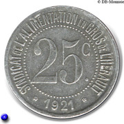 25 Centimes (Hérault) – obverse