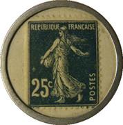 25 Centimes (Société Générale) – reverse