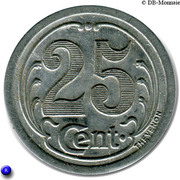 25 Centimes (Gournay-en-Bray) – reverse