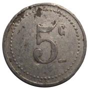 5 Centimes - Vanves 92 (Comité Municipal d'Approvisionnement) – reverse