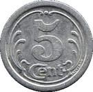 5 Centimes (Vimoutiers) – reverse