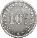 10 Centimes (Saint Germain en Laye) – obverse