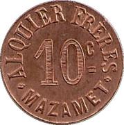 10 Centimes (Mazamet) – reverse