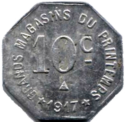 10 Centimes (Narbonne) – reverse