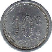 10 Centimes (Elbeuf) – reverse