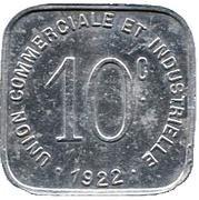 10 Centimes (Bayeux) – reverse