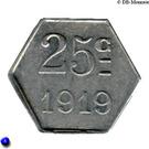 25 Centimes (Montréal) – reverse