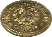 25 Centimes (Calaisis) – reverse