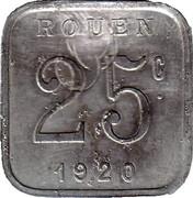 25 Centimes (Rouen) – reverse
