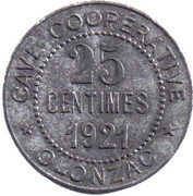 25 Centimes (Olonzac) – obverse