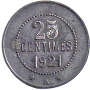 25 Centimes (Olonzac) – reverse