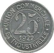 25 Centimes (La Clayette) – reverse