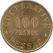 100 Francs (Pessac Emergency Coinage) – reverse
