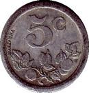 5 Centimes (Bernay) – reverse
