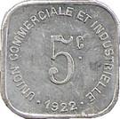 5 Centimes (Bayeux) – reverse