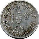10 Centimes (Bayonne) – reverse