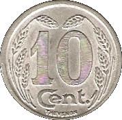 10 Centimes (Evreux) – reverse