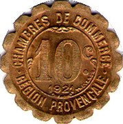 10 Centimes (Provisional Regions) – reverse