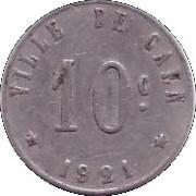 10 Centimes (Caen) – reverse