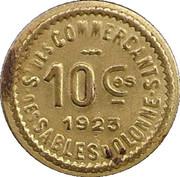 10 Centimes - Syndicat des commercants - Sables d'Olonne [85] – reverse