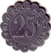 25 Centimes (Saint André de l'Eure) – reverse