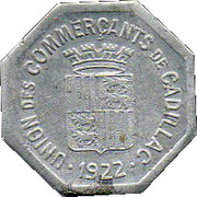 25 Centimes (Cadillac) – obverse