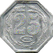 25 Centimes (Cadillac) – reverse