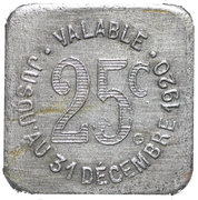 25 Centimes (Albi) – reverse