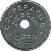 5 Francs (Pessac Emergency Coinage) – obverse