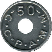 50 Francs (Emergency Coinage) – obverse
