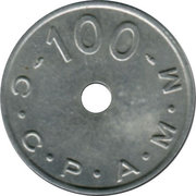 100 Francs (Emergency Coinage) – obverse