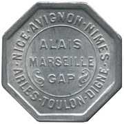 25 Centimes (Provisional Regions) – obverse