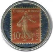 10 Centimes (Crédit lyonnais) – reverse