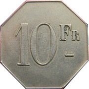 10 Francs - Cercle des Phocéens Marseille [13] – reverse