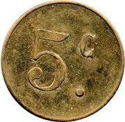 5 Centimes Pont-sur-Saulx ROBERT-ESPAGNE 55 – reverse
