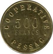 500 Francs (Pessac Emergency Coinage) – reverse