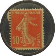 10 Centimes (Banque Charpentier & Cie) – reverse