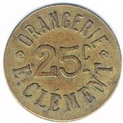 25 Centimes (Orangerie E.Clément; Strasbourg) – obverse