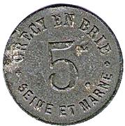 5 Centimes (Crecy en Brie) – obverse